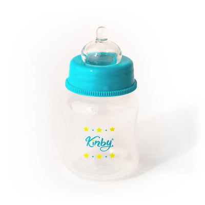 Blue Baby Bottle & Pacifier Set for Open Mouth Babies