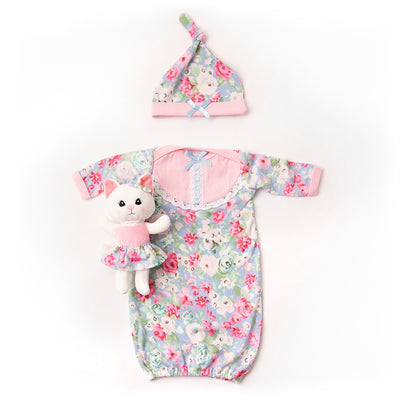 Khloe the Kitten Gown & Blanket Set