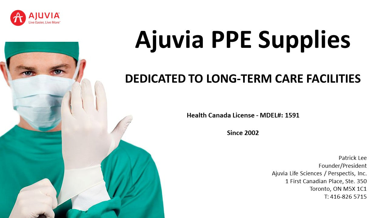 Ajuvia PPE Supplies - Dedicated to Long-Term Care Homes