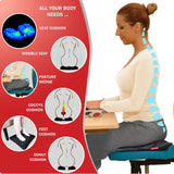 PilateSeat™ (EquiliSeat™) - Professional Office Back Pain Relief Seat Cushion - ws