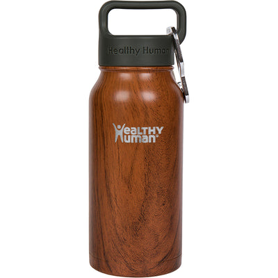 16oz Wood Grain stainless steel insulated water bottle