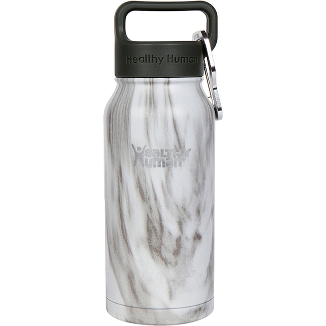 16oz Stone White stainless steel insulated water bottle