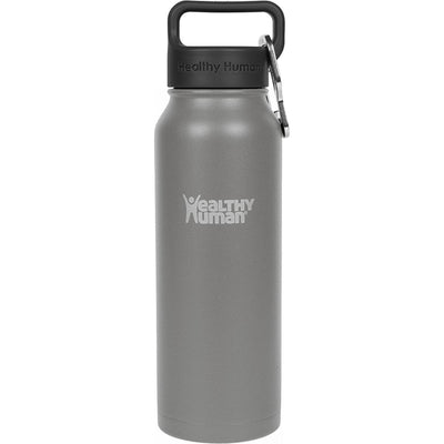 21oz Slate Gray stainless steel insulated water bottle