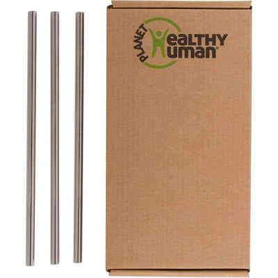 3-Pack Stainless Steel Straw Set by Healthy Human