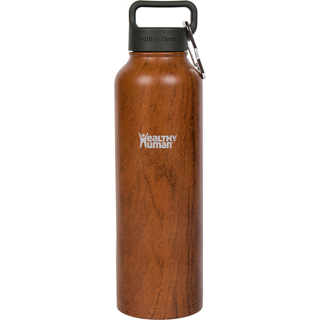40oz Wood Grain stainless steel insulated water bottle