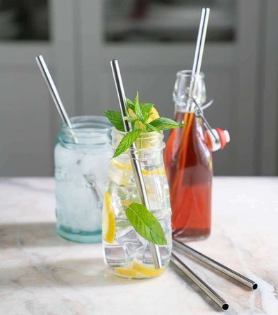 eco friendly and reusable stainless steel straws