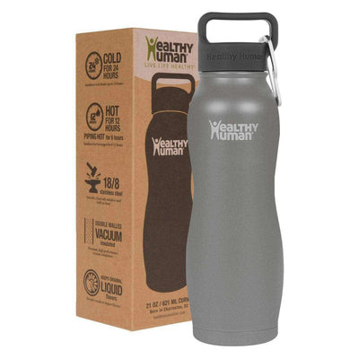 21oz Slate Gray stainless steel insulated curve water bottle