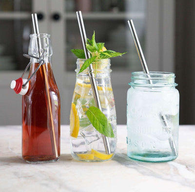 3-Pack Stainless Steel Straw Set fits 20oz cruiser tumblers