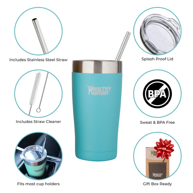 glacier blue stainless steel water bottle insulated hydration product