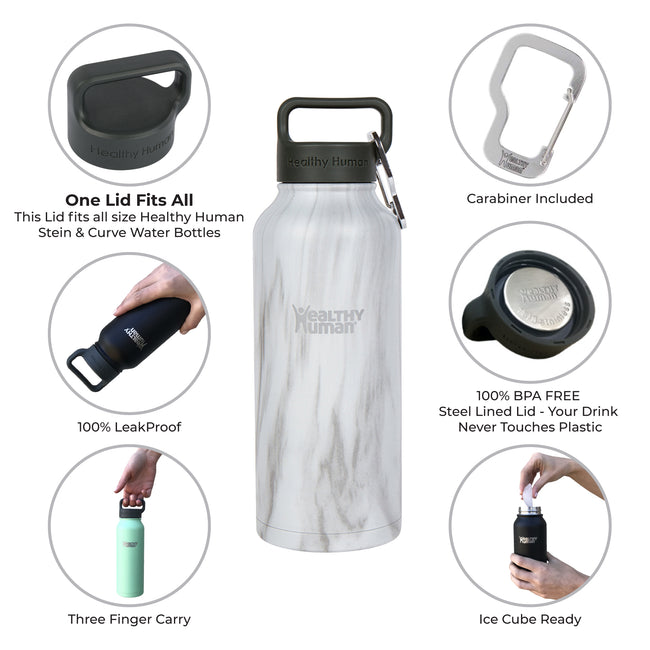 Stone White stainless steel water bottle insulated hydration product