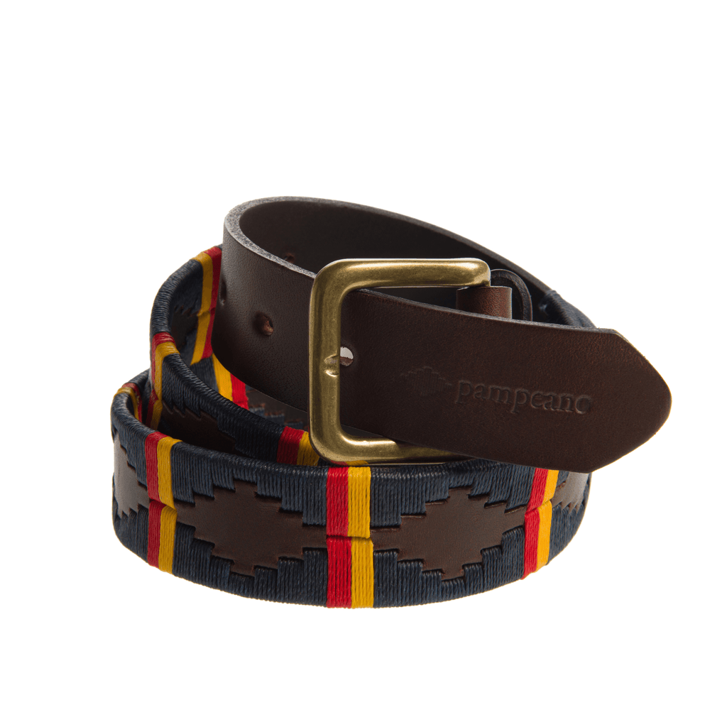 ROYAL ELECTRICAL & MECHANICAL ENGINEERS LEATHER POLO BELT