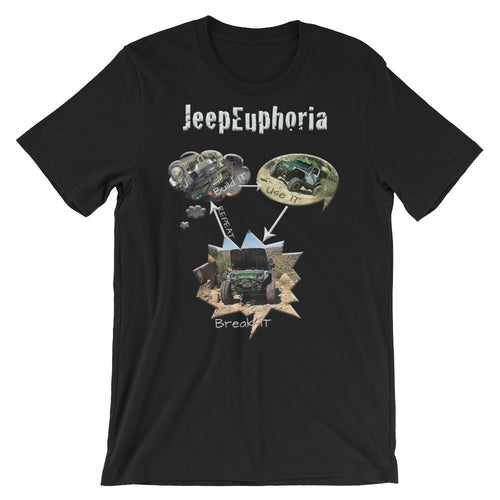 JeepEuphoria Jeep Lifecycle Unisex short sleeve t-shirt