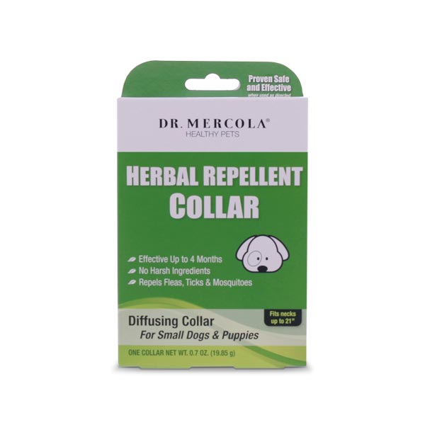Dr Mercola Herbal Repellent collar for Small Dogs & Puppies