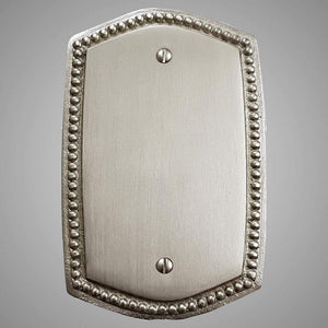 1 Blank Wall Plate - Beaded Design