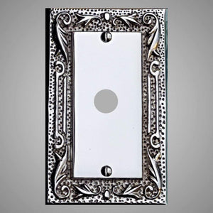 1 Coaxial Cable Wall Plate - Floral Design