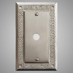 1 Coaxial Cable Wall Plate - Greek Design