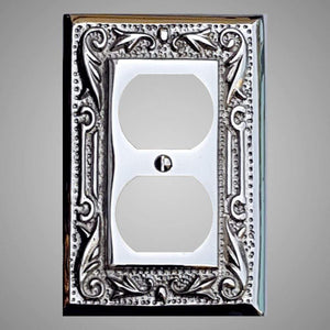 1 Gang Duplex Outlet Wall Switch Plate - Floral Design