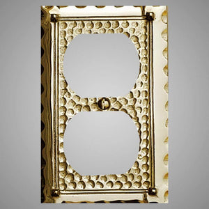 1 Gang Duplex Outlet Wall Switch Plate - Hammered Design