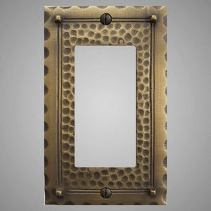 1 Gang Rocker Light Switch Plate - Hammered Design