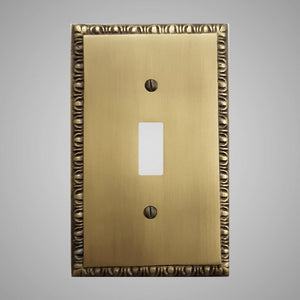 1 Gang Toggle Light Switch Plate - Egg & Dart Design