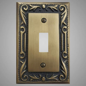 1 Gang Toggle Light Switch Plate - Floral Design