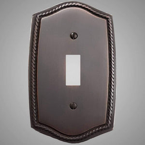 1 Gang Toggle Light Switch Plate - Georgian Design