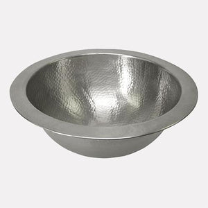 "12"" Abie Pewter-Plated Hammered Copper Sink"