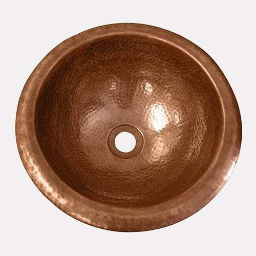 "12"" Welty Hammered Copper Drop-In Sink"