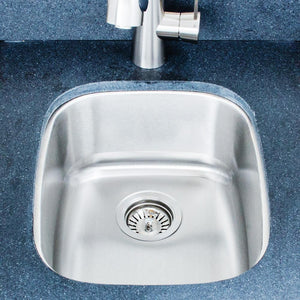 "15"" Cabot Stainless Steel Single-Bowl Undermount Sink"