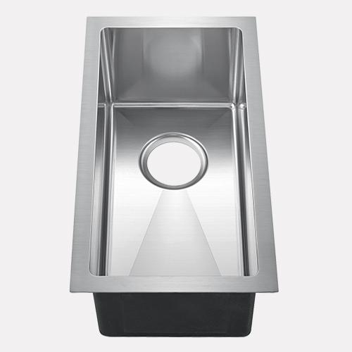 "15"" Kuna Stainless Steel Narrow Single-Bowl Undermount Sink"