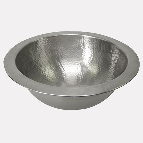 "15"" Mehan Pewter-Plated Hammered Copper Sink"