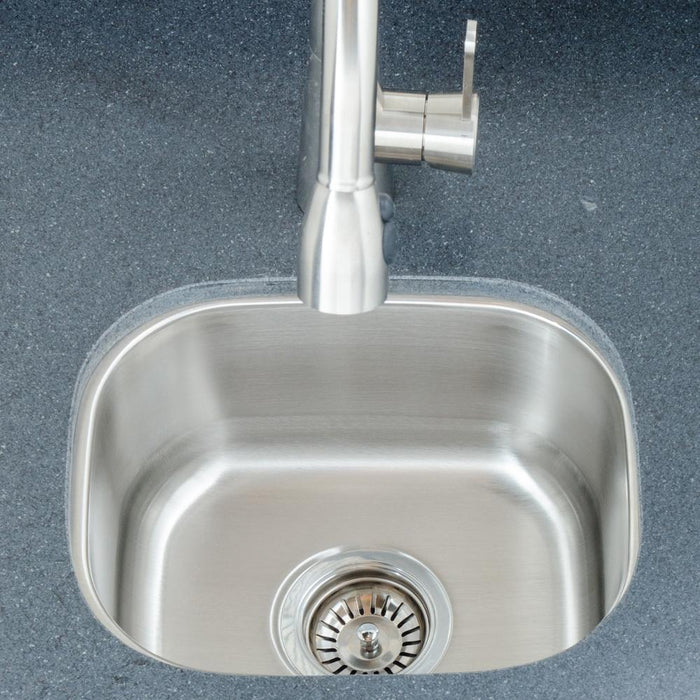 "15"" Saco Stainless Steel Single-Bowl Undermount Sink"