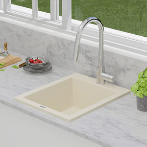"16"" Cardea  Granite Composite Sink - Beige"