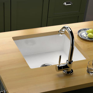 "17"" Hazlet Fireclay Single-Bowl Kitchen Sink"