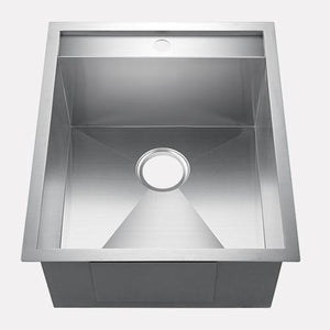 "19"" Highland Stainless Steel Single-Bowl Drop-In Sink"