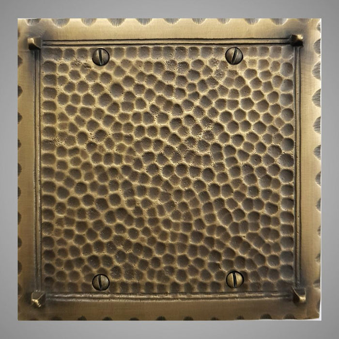 2 Blank Wall Plate - Hammered Design