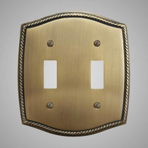 2 Gang Toggle Light Switch Plate - Georgian Design