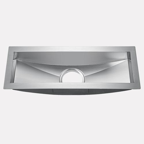 "22"" Fraser Stainless Steel Single-Bowl Sloped Bottom Undermount Sink"