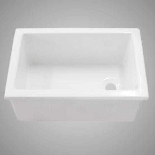 "23"" Paterson Fireclay Single-Bowl Utility Sink"