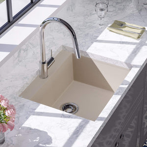 "24"" Canika  Granite Composite Sink - Beige"