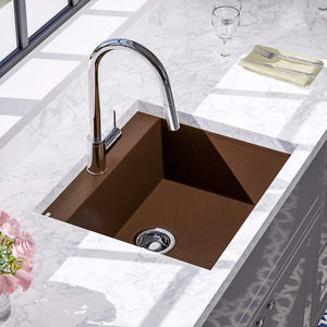 "24"" Canika  Granite Composite Sink - Brown"