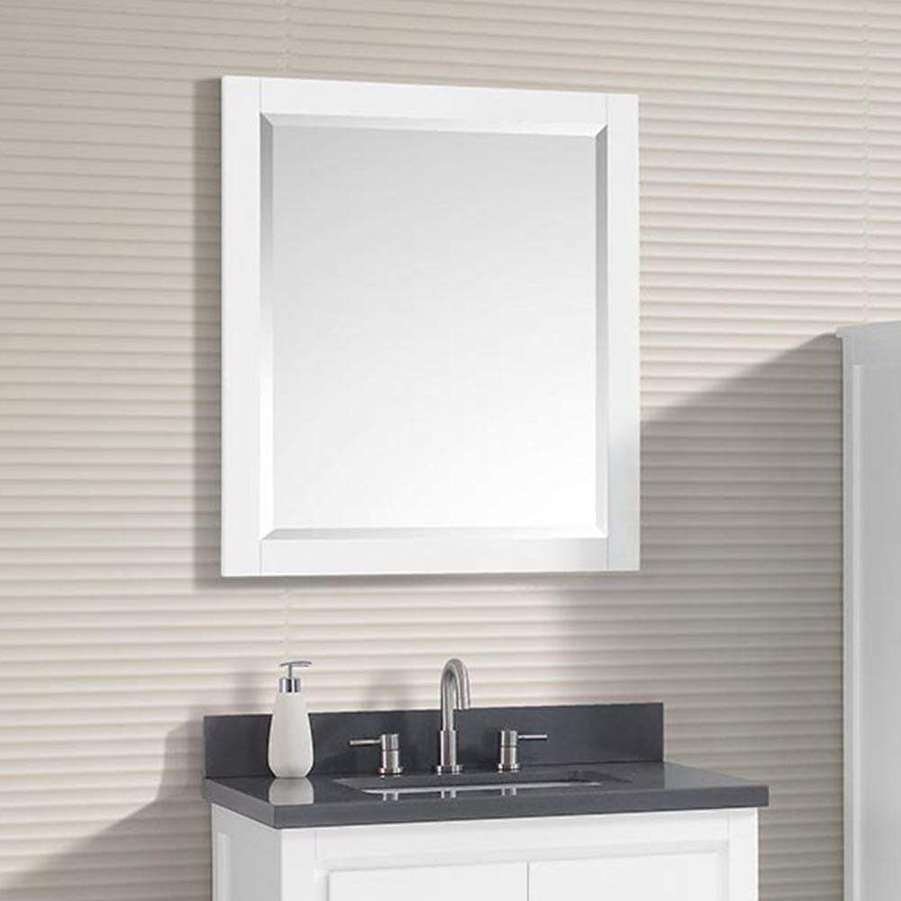 24 Chelan Framed Vanity Mirror White Open Box Magnus Home Products