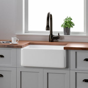 "24"" Elmont Fireclay Single-Bowl Farmhouse Sink"