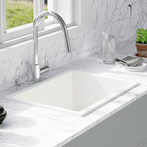 "24"" Florence Fireclay Single-Bowl Kitchen Sink - White"