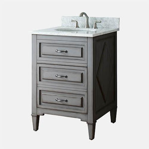 "24"" Mullen Vanity for Oval Undermount Sink - Grayish Blue"