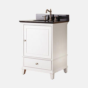"24"" Wilbur Vanity for Oval Undermount Sink - White"