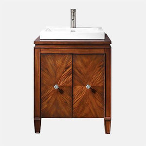 "25"" Coram Vanity for Semi-Recessed Sink - New Walnut"