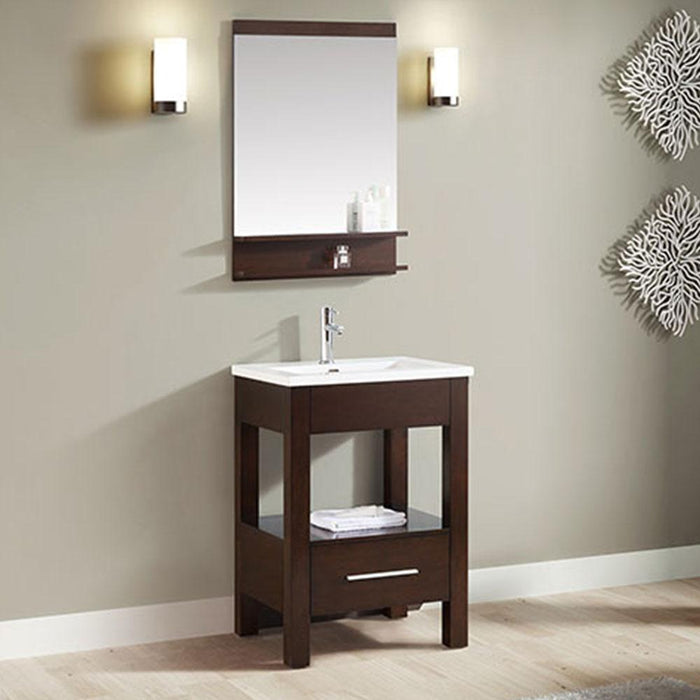 "25"" Lostine Vanity Cabinet with Integral Vitreous China Top"