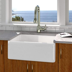 "26"" Ponca Fireclay Smooth Apron Single-Bowl Farmhouse Sink"