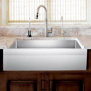 "27"" Wadley Stainless Steel Single-Bowl Farmhouse Sink - Angled Apron"